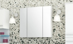 Cabinet in the bathroom with a mirror LED B9050