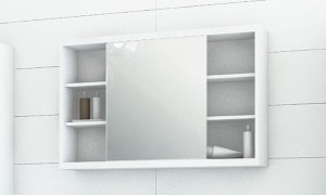 Cabinet in the bathroom with a mirror B9051