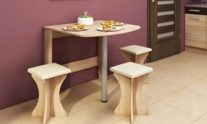 Folding table 80x81 cm