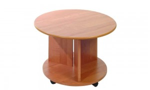 Coffee table on wheels 71x71 cm