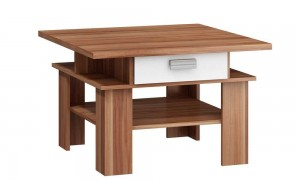 Coffee table with drawer 80x80 cm